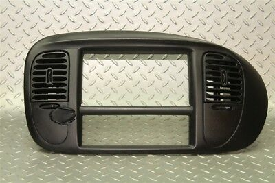 (97-03 F150 Harley Davidson Black Radio Trim Bezel Surround Dash Panel A/C Vents)