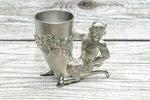 Antique rare glass tin God faun BNF ZINN Germany
