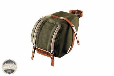 Brooks Isle Of Wight Saddle Bag - Green/Honey