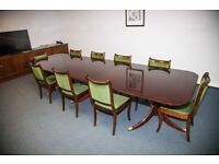 Extra Large Boardroom Desk with 9 Matching Chairs! 3M+