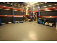 COMMERCIAL/WAREHOUSE, UNIT, WORKSHOP, STORAGE ground floor, secure, 1 min from M74