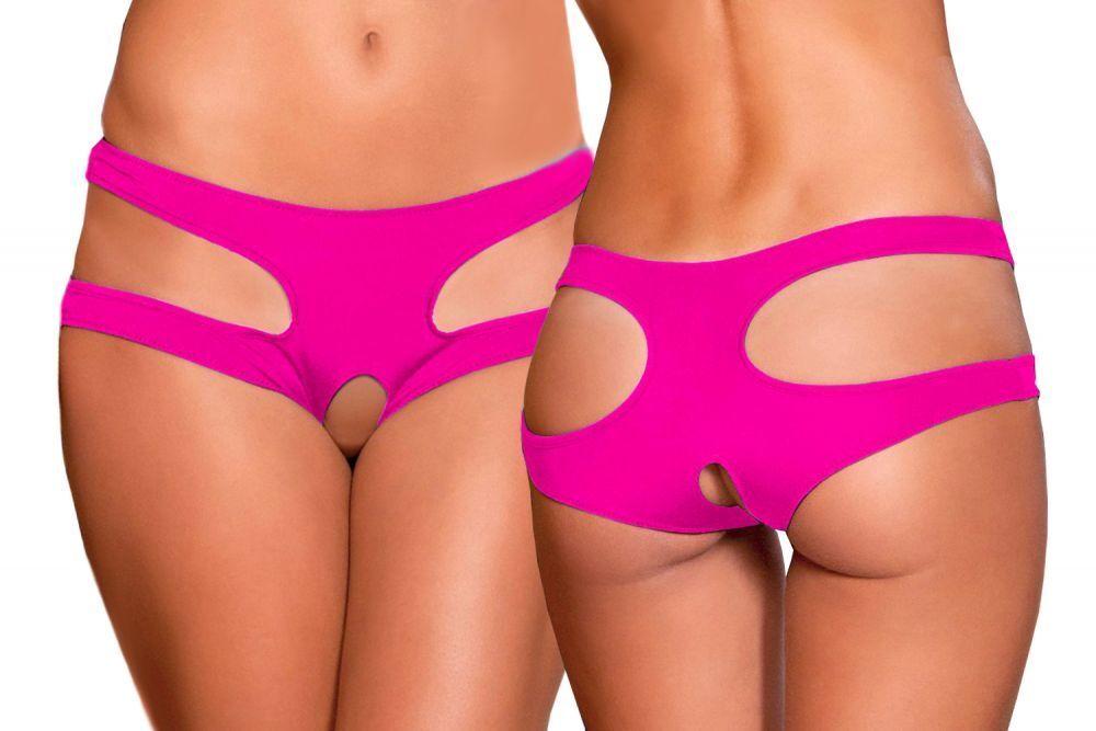 SeXy Damen Panty Slip Unterhose mit Offen Intim Arsch Riemen Tanga Dessous S/XL