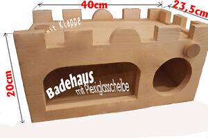 Sand Badehaus für Chinchilla Bad in einer Speziellen Wanne am Abend Neu Profi