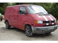 VW T4 Panel van - BRAND NEW MOT - wooden floor, insulated walls and carpeted roof with LED lights.