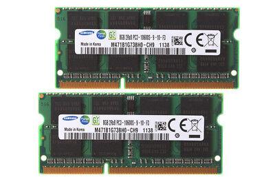 Für Samsung 16 GB 2 x 8 GB DDR3 1333 MHz PC3-10600S Notebook-RAM-Speicher 8G @3H