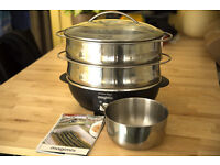 Magimix Steamer - 2 tier, stainless steel, almost unused