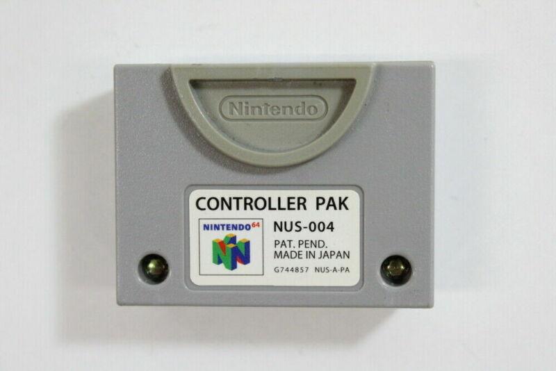 Official Nintendo 64 Controller Pack N64 Memory Pak Authentic SAVES OEM NUS-004