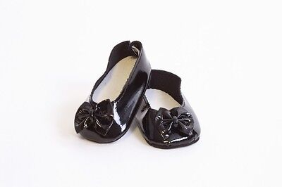 Black Ballet Flats with Bow Shoes made for 18
