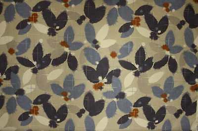 John Lewis Curtain/Upholstery Fabric Design Sakura blue 1 metre ...