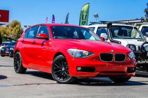 2014 BMW 1 Series F20 MY0713 118i Steptronic Red 8 Speed Sports Automatic Hatchback