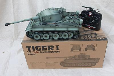 Taigen 1/16 2.4 GHz RC German Tiger 1 Early Production Grey BB Tank Metal Tracks