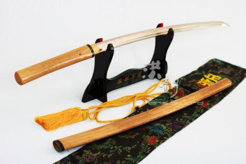 Wooden Shirasaya Carbon Steel Handmade Japanese Katana Sword w/ Sharp Blade New