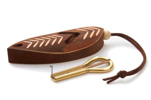 Jaw Harp by MUARO P.Potkin in Dark Wooden Case (Mouth Harp)
