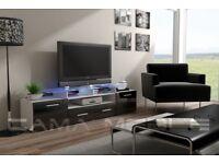 BRAND NEW ! EVORA High Gloss Modern TV Stand Entertainment Unit