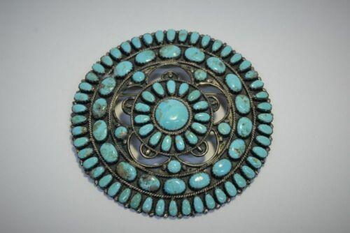 "Navajo Jewelry; Cluster Pin / Pendant signed LMB 3"" d; 38g"