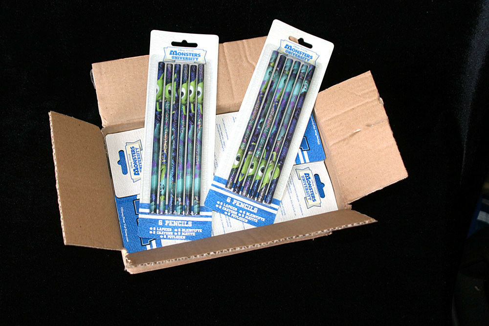 Joblot 96 Pencils Disney Pixar Monsters University 6 In A Packet Box Of 16