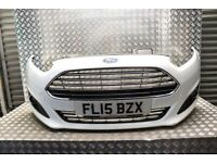 FORD FIESTA MK7 FRONT BUMPER COMPLETE IN FROZEN WHITE 2013-2017 FL15