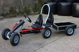 Pedal go kart 2 seats and tipping trailer