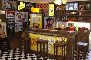 Retro Rustic Man Cave, Bar Room Collection, Signs , Lights, more Albany Creek Brisbane North East Preview
