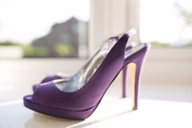 Women's PLANET Purple High Heel Shoe's SIZE 6 UK