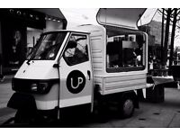 Popup Cafe with Piaggio Ape Coffee Van, Equipment, Website, Email, Towbar & Goodwill