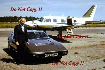 Colin Chapman Lotus Elite Portrait 1973 Photograph 1