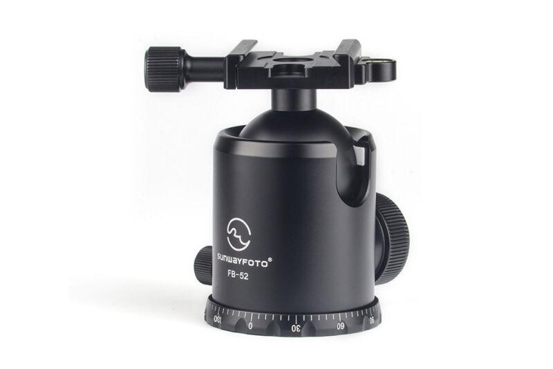 SUNWAYFOTO FB-52 52mm Tripod Ball Head Arca /RRS Compatible 44lb Max Load Sunway