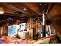 One of a kind, Rustic, wooden Campervan. Brand new conversion.