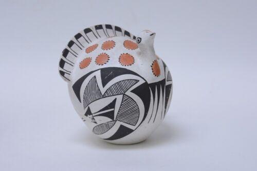 "Larger Acoma Pottery Turkey ; Poly-chrome figure  c. 1970; 5 7/8""h"