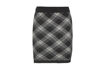 Bonnie Doon  Rock Plaid Checks Skirt  Gr. S ( 38 -40) Neu Black/Concrete