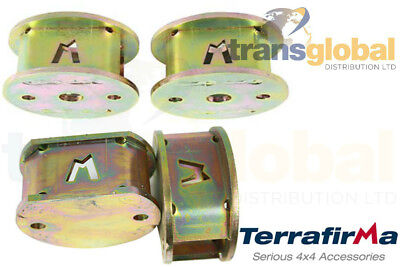 """TF526 Terrafirma 50mm Rear Air Spring Spacers for Land Rover Discovery 2 2/"""""""