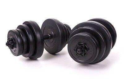 Kurzhanteln 2x20 kg Hantelset Set 40 kg Hanteln Gewichte Hantelscheiben Stange