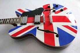 ES335 Union Jack design Electric Guitar