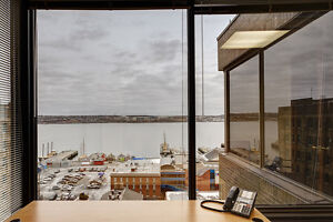 Executive shared office space for rent with harbour views