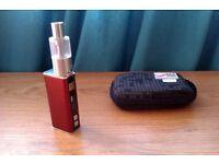 KAMRY V1 VARIABLE WATTAGE 30W QUALITY E SHISHA BOX MOD METALLIC BURGUNDY RED + INNOKIN ISUB TANK
