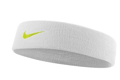 Nike Dri-Fit Headband 2.0 (OSFM, White/Volt)