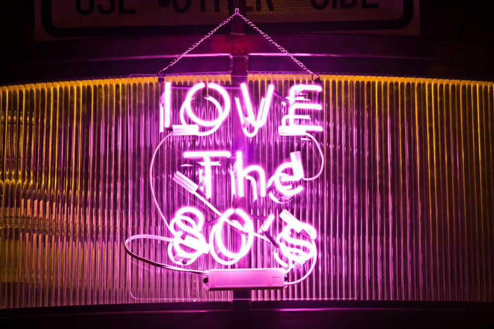 New I Love The 80'S Pink Neon Light Sign Lamp Beer Pub Acryl