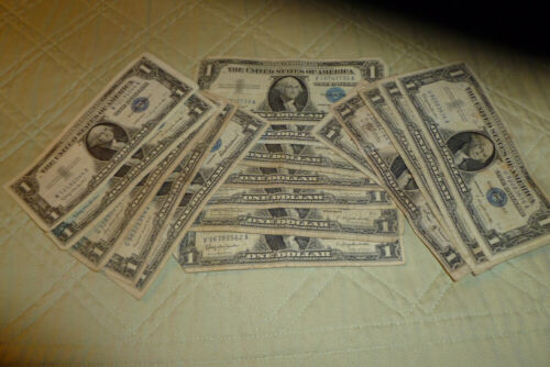 1957 $1 Silver Certificates Average Circulated - FREE Shipping!