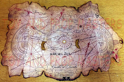 The Goonies Pirates Treasure Map Replica Prop Chunk Sloth   Amazing Detail
