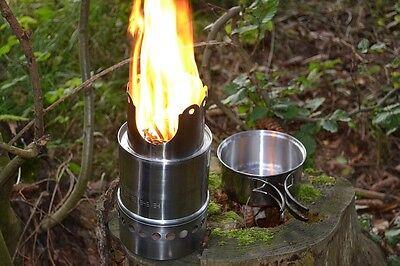 "Outdoor-Ofen ""Firepot"" Typ 140 Camping-Kocher Kochtopf Aschetopf Edelstahl"