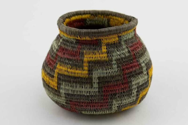 Wounaan Indian Hand Woven Classic Design Basket Panama