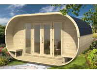 oval log cabin