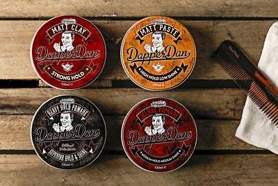 Dapper Dan Men's Hair Styling Products: Matt Paste, Matt Clay, Deluxe Pomade