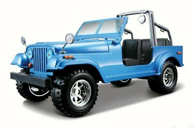 JEEP WRANGLER 1/24 SCALE BLUE DIECAST CAR BY BBURAGO 22033BU