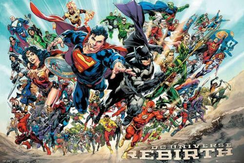 DC COMICS REBIRTH POSTER PRINT 36 x 24 in #160601 #art-024