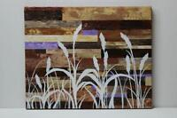 Wild Grass Earth-tones Original Painting with Frame
