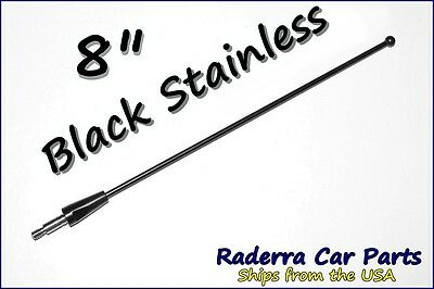 "8"" Black Stainless AM FM Antenna Mast FITS: 1979-2009 Ford Mustang"