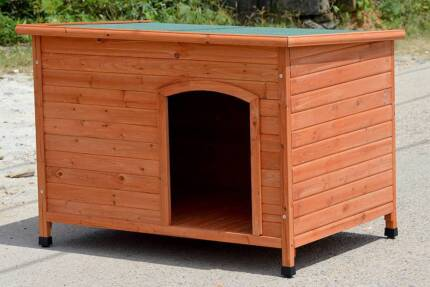 BRAND NEW X-LARGE TIMBER LOG DOG KENNEL, WOOD HOUSE
