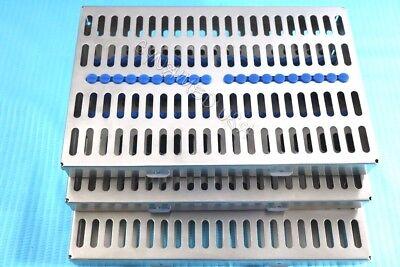 German 3 Dental Autoclave Sterilization Cassette Rack Box Tray For 20 Instrument