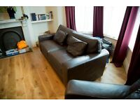 !!! Genuine Leather Sofa and Chair for Sale !!!